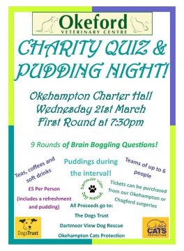 Charity quiz night, Okeford Veterinary Centre